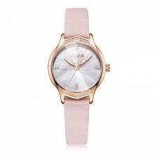 Đồng hồ nữ JA-1155B Julius Hàn Quốc dây da (hồng)