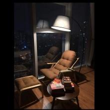 Combo đèn và ghế đọc sách Poang