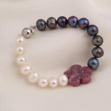 Opal - vòng tay ngọc trai mix 2 màu sang trọng_T7