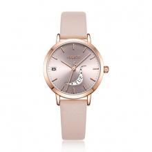 Đồng hồ nữ JA-1076 Julius Hàn Quốc dây da (5 màu)