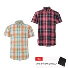 Bộ 2 áo sơ mi ngắn tay sọc caro thời trang SMC2520