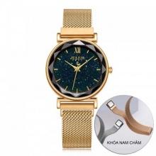 Đồng hồ nữ JA-1172A Julius Hàn Quốc dây nam châm (vàng)