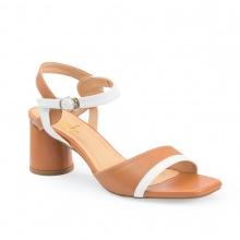 Giày cao gót nữ block heels Erosska cao 5cm mũi vuông thời trang thiết kế phối màu sang trọng - EB002 (BR)