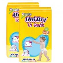 Combo 2 gói tã quần Unidry size XXL30 _ 30 miếng x 2 gói