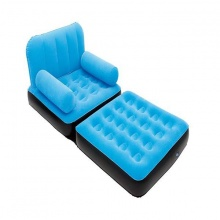 Ghế giường hơi đơn 2 in 1- xanh dương - 67277