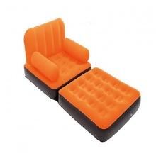 Ghế giường hơi đơn 2 in 1 - màu cam đậm 67277