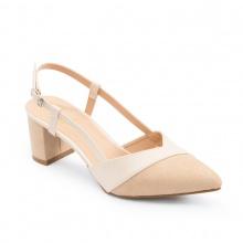 Giày nữ, giày cao gót slingback erosska mũi nhọn phối dây gót vuông cao 5cm - EK003 (NU)