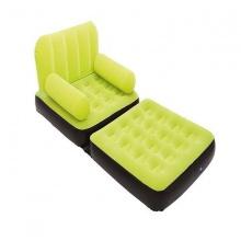Ghế giường hơi đơn 2 in 1- màu xanh chuối - 67277