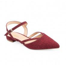 Giày nữ, giày cao gót slingback erosska mũi nhọn cao 2cm phối dây thời trang kiểu dáng basic - EL008 (RE)