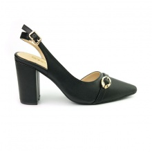 Giày cao gót bít mũi Sunday CG40 màu đen