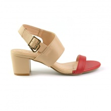 Sandal đế vuông êm chân Sunday DV45 màu kem