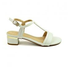 Sandal đế vuông êm chân Sunday DV40 màu trắng