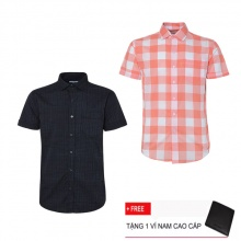 Combo 2 áo sơ mi nam sọc caro Model Fashion cao cấp MSMI3120 (tặng kèm ví nam)