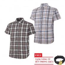 Bộ 2 áo sơ mi ngắn tay sọc caro thời trang SMC2612