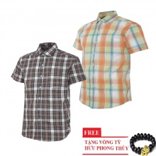 Bộ 2 áo sơ mi ngắn tay sọc caro thời trang SMC2614