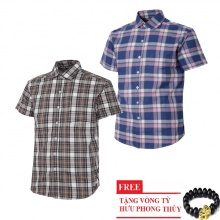 Bộ 2 áo sơ mi ngắn tay sọc caro thời trang SMC2615