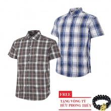 Bộ 2 áo sơ mi ngắn tay sọc caro thời trang SMC2616