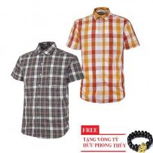 Bộ 2 áo sơ mi ngắn tay sọc caro thời trang SMC2617