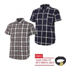Bộ 2 áo sơ mi ngắn tay sọc caro thời trang SMC2618