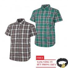 Bộ 2 áo sơ mi ngắn tay sọc caro thời trang SMC2620
