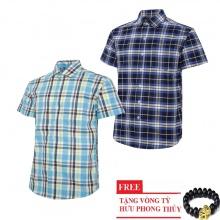 Bộ 2 áo sơ mi ngắn tay sọc caro thời trang SMC2621