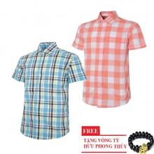 Bộ 2 áo sơ mi ngắn tay sọc caro thời trang SMC2623