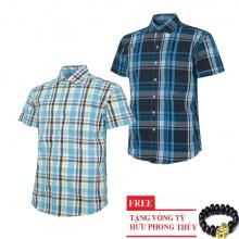 Bộ 2 áo sơ mi ngắn tay sọc caro thời trang SMC2624
