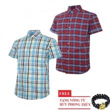 Bộ 2 áo sơ mi ngắn tay sọc caro thời trang SMC2625