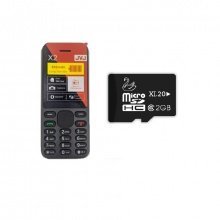 Combo 2 điện thoại JVJ X2 (đen)  tặng kèm thẻ nhớ JVJ 2G