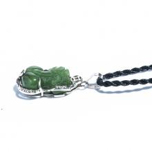 Mặt dây chuyền Tỳ hưu ngọc bích bọc bạc PDTNEP03 - Vietgemstones
