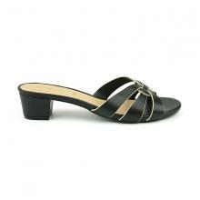 Guốc da thời trang êm chân Sunday GG12 màu đen