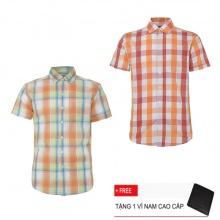 Combo 2 áo sơ mi nam sọc caro Model Fashion cao cấp MSMI3105 (Tặng kèm ví nam)