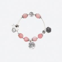 Vòng tay phong thủy nữ đá beryl phối charm hoa sen mệnh hỏa , thổ - Ngọc Quý Gemstones