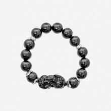 Vòng tay phong thủy đá obsidian phối tỳ hưu mệnh thủy , mộc - Ngọc Quý Gemstones