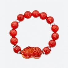 Vòng tay phong thủy đá mã não đỏ phối tỳ hưu 10mm mệnh hỏa, thổ - Ngọc Quý Gemstones