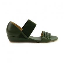 Giày đế xuồng êm chân Sunday DX22 màu xanh rêu