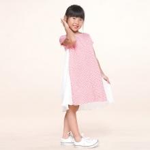 UKID225 - đầm bé gái (hồng phấn)