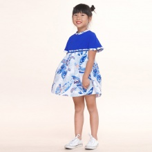 UKID224 - đầm bé gái (xanh dương)