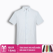 Áo sơ mi nam tay ngắn họa tiết The Shirts Studio Hàn Quốc TD45F6122BL100