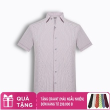 Áo sơ mi nam tay ngắn họa tiết The Shirts Studio Hàn Quốc TD45F2315OR095