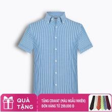 Áo sơ mi nam tay ngắn kẻ caro The Shirts Studio Hàn Quốc TD45F6154BL100