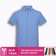 Áo sơ mi nam tay ngắn trơn màu The Shirts Studio Hàn Quốc TD45F6131BL100