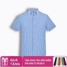 Áo sơ mi nam tay ngắn kẻ caro The Shirts Studio Hàn Quốc TD45F6154BL95
