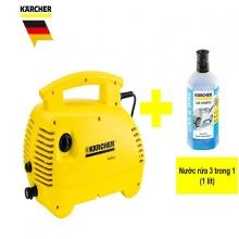 Combo máy phun rửa áp lực cao Karcher K 2.420 Air con và nước rửa 1 lít 3 trong 1