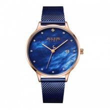 Đồng hồ nữ JS-004 Julius Star Hàn Quốc dây thép