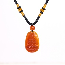 Mặt dây chuyền phong thủy đại nhật như lai đá mã não đỏ tuổi mùi & thân Ngọc Quý Gemstones