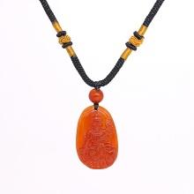 Mặt dây chuyền Phật Bản Mệnh Phổ Hiền Bồ Tát đá mã não đỏ tuổi thìn & tỵ - Ngọc Quý Gemstones