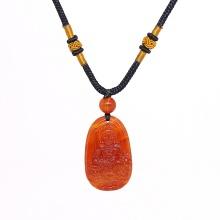 Mặt dây chuyền Phật Bản Mệnh Văn Thù Bồ Tát đá mã não đỏ tuổi mão - Ngọc Quý Gemstones