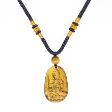 Mặt dây chuyền Phật Bản Mệnh Đại Nhật Như Lai đá mắt hổ tuổi mùi & thân - Ngọc Quý Gemstones