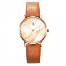(SIÊU SALE) Đồng hồ nữ chính hãng Shengke UK K0108L-02 nâu